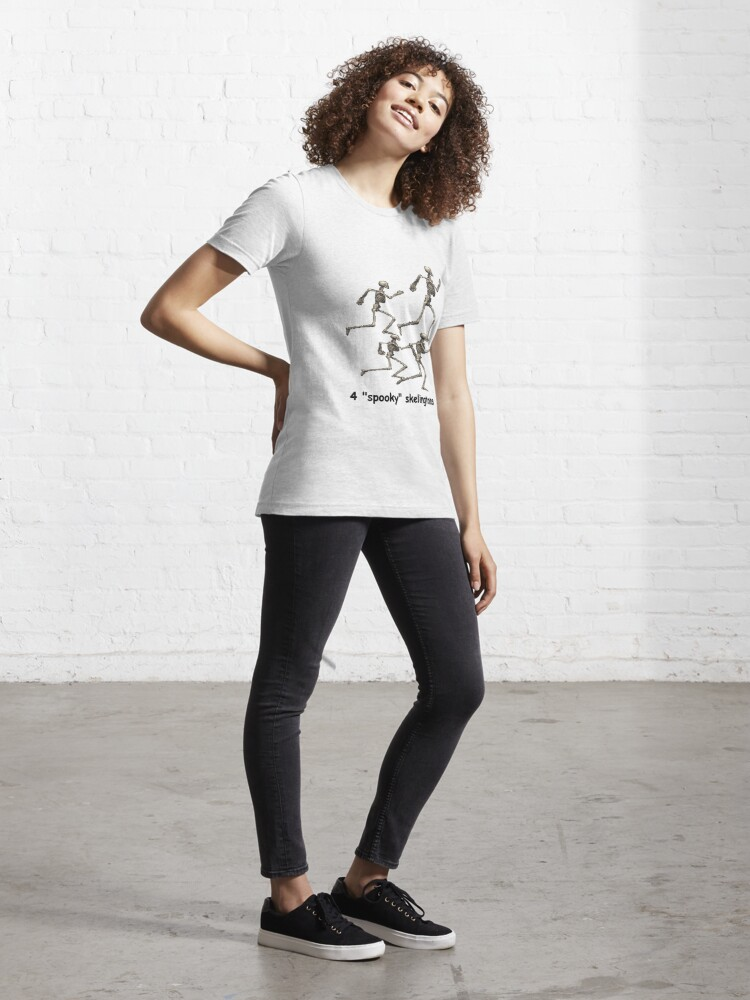 Alternate view of 4 spooky skeletong Essential T-Shirt