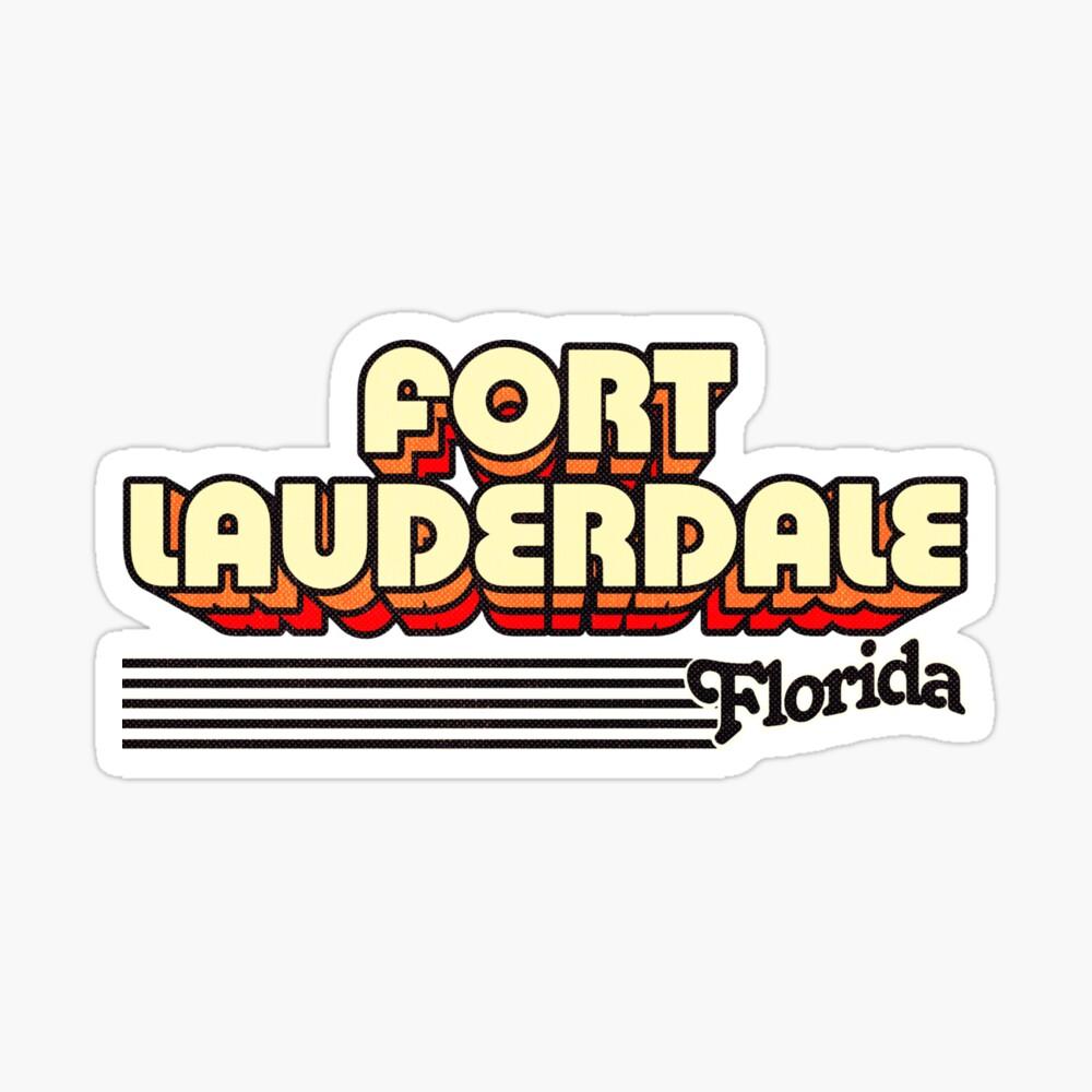 Fort Lauderdale, Florida | Retro Stripes Sticker