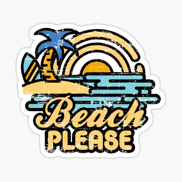 Playa por favor Pegatina
