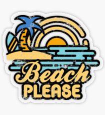 Strand bitte Transparenter Sticker