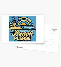 Strand bitte Postkarten