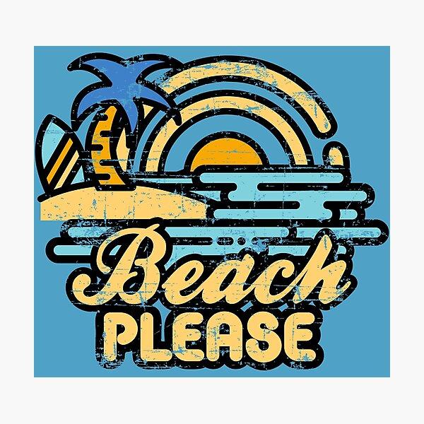 Strand bitte Fotodruck