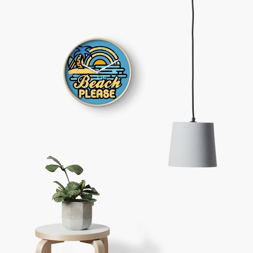 Beach Please Clock