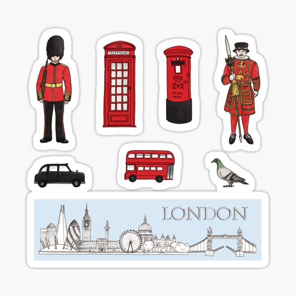 London Skyline and Icons Sticker