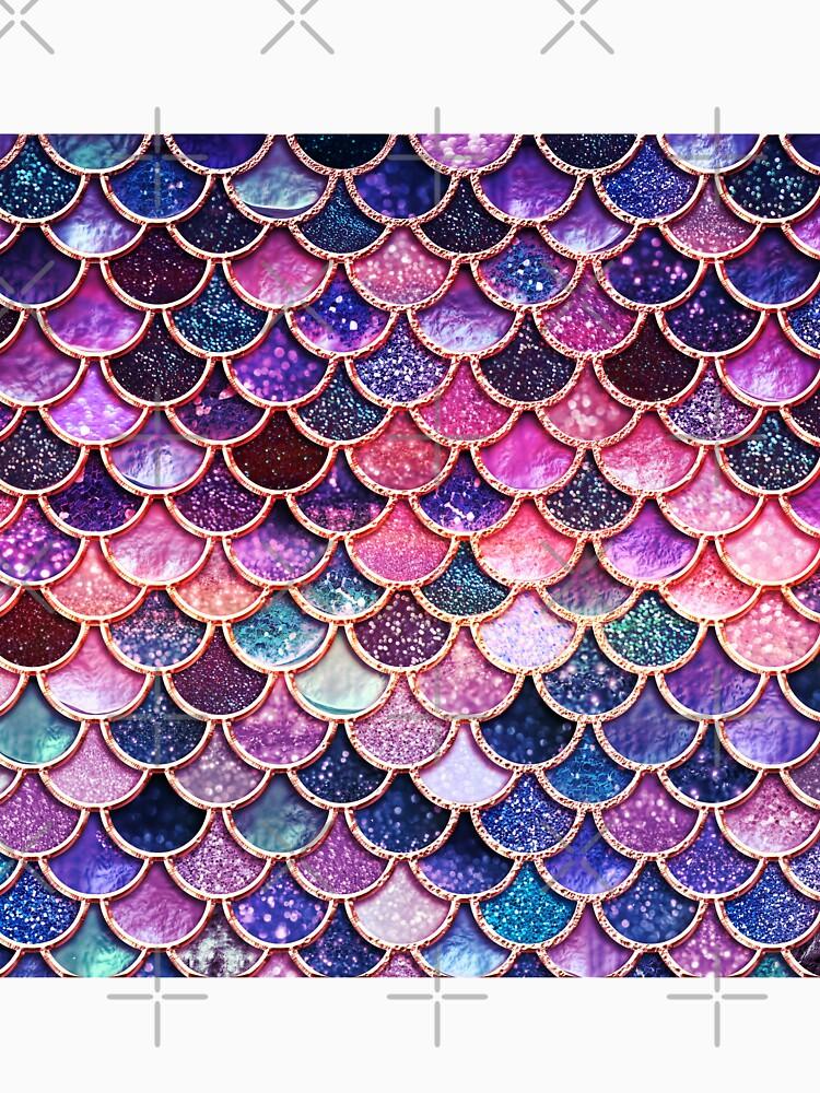 Rosa Sparkle Faux Glitter Meerjungfrau Skalen von UtArt