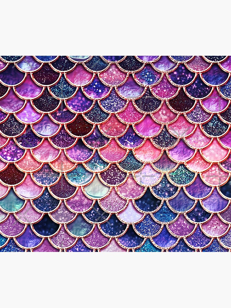 Pink Sparkle Faux Glitter Mermaid Scales by UtArt
