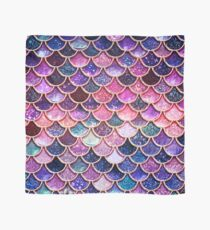 Pink Sparkle Faux Glitter Mermaid Scales Scarf