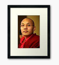 karmapa. mcleod ganj, india Framed Print