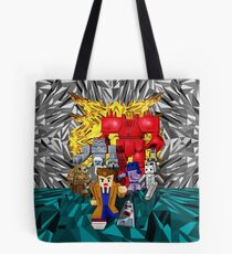 8bit 10th doctor pursued by all enemies Tote Bag