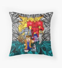 8bit 10th doctor pursued by all enemies Throw Pillow