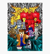 8bit 10th doctor pursued by all enemies Photographic Print