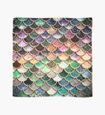 Copper Green Gold and Pink Sparkle Faux Glitter Mermaid Scales Scarf