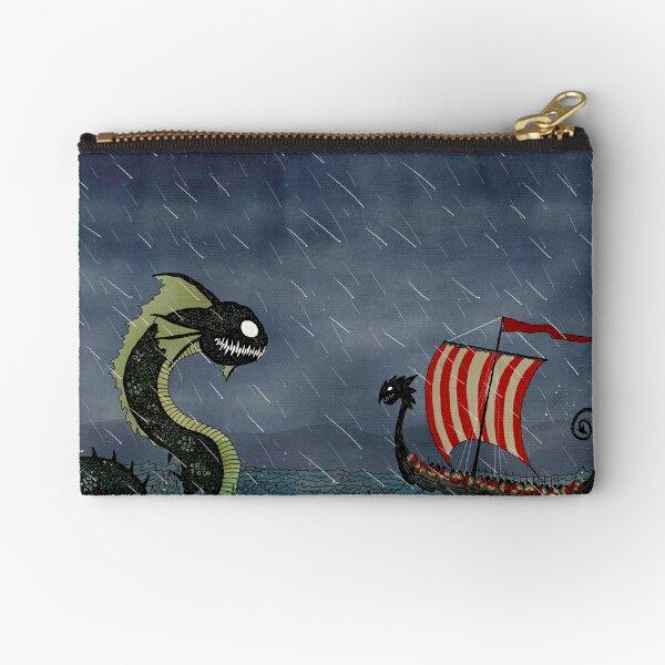 Vikings & Sea Serpent Zipper Pouch