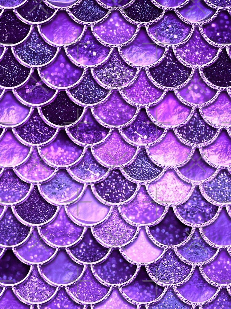 Ultra Violet Sparkle Faux Glitter Mermaid Scales by UtArt