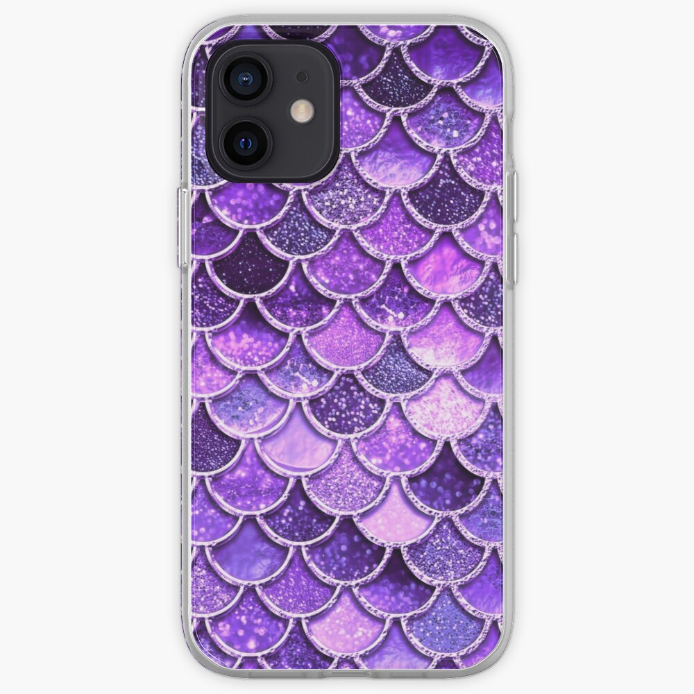 Ultra Violet Sparkle Faux Glitter Mermaid Scales iPhone Case & Cover