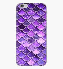 Ultra Violet Sparkle Faux Glitter Mermaid Scales iPhone Case