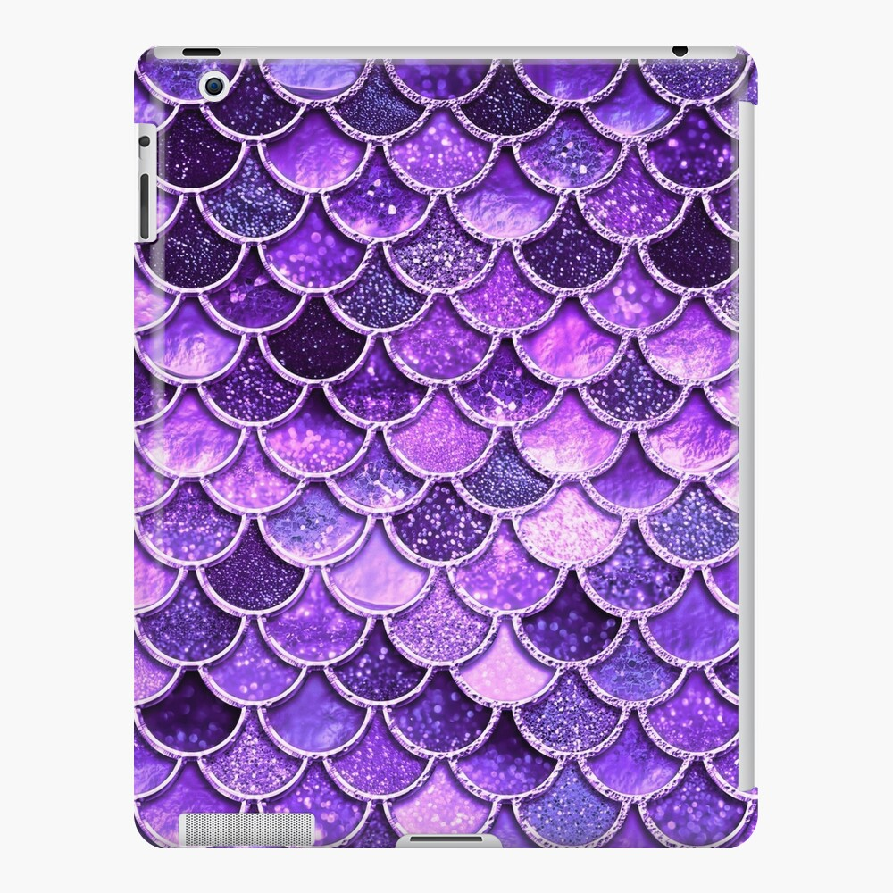 Ultra Violet Sparkle Faux Glitter Mermaid Scales iPad Case & Skin