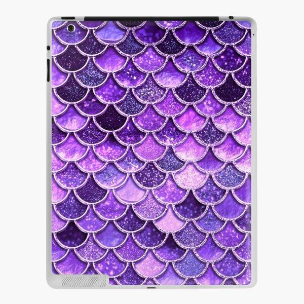 Ultra Violet Sparkle Faux Glitter Mermaid Scales iPad Skin