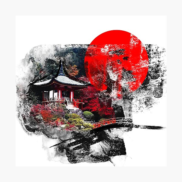 Kyoto Abstract Photographic Print
