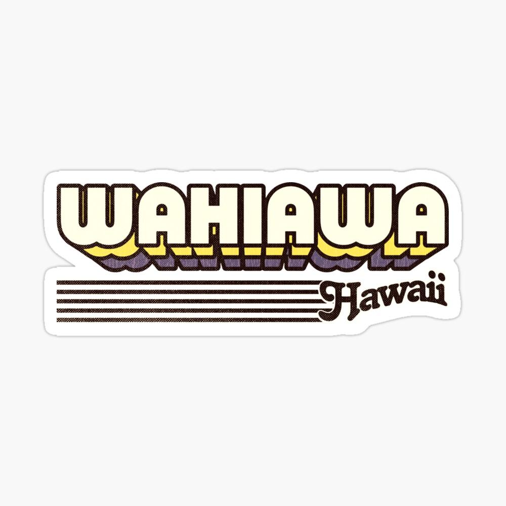 Wahiawa, Hawaii | Retro Stripes Sticker