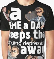 A Meme a Day Keeps the crippling depression away Graphic T-Shirt