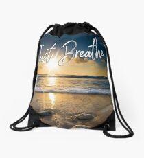 Just Breathe Drawstring Bag