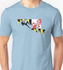 Maryland Flag Rock Climber - Climb like a girl Unisex T-Shirt