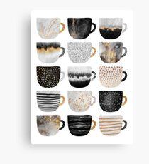 Pretty Coffee Cups 4 Canvas Print