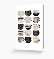 Pretty Coffee Cups 4 Greeting Card