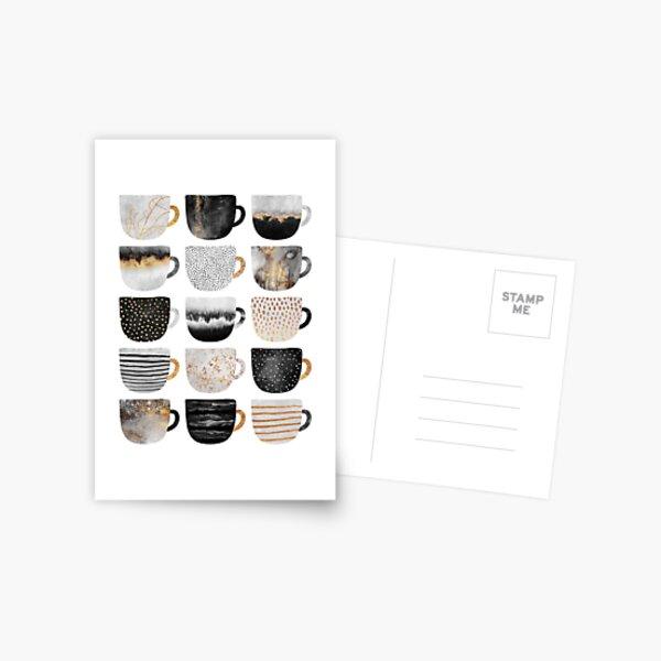 Pretty Coffee Cups 4 Postcard