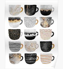 Pretty Coffee Cups 4 Poster