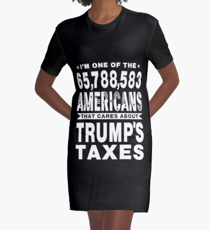 Americans Care Trumps Taxes Graphic T-Shirt Dress