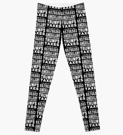 Americans Care Trumps Taxes Leggings