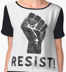 Resist Fist with Exclamation Point Chiffon Top