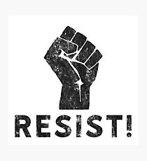 Resist Fist with Exclamation Point Photographic Print