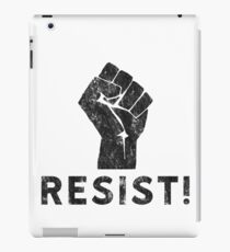 Resist Fist with Exclamation Point iPad Case/Skin