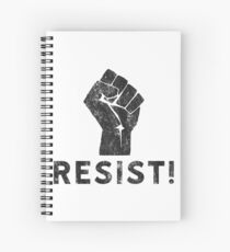 Resist Fist with Exclamation Point Spiral Notebook