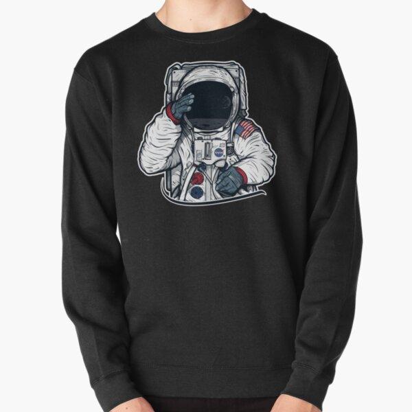 Apollo Lunar Mission Astronaut Illustration (SPACE YO) Pullover Sweatshirt