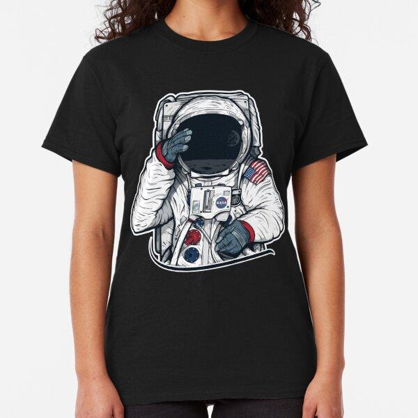 Apollo Lunar Mission Astronaut Illustration (SPACE YO) Classic T-Shirt