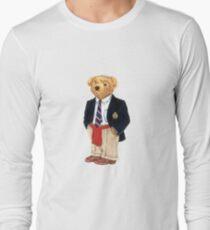 Preppy Smart Blazer Polo Bear  Long Sleeve T-Shirt