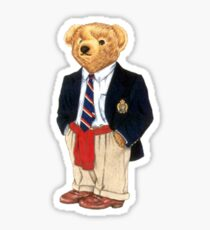 Preppy Smart Blazer Polo Bear  Sticker