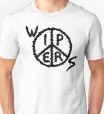 Wipers Logo Schwarz auf transparent (Punkband) Slim Fit T-Shirt