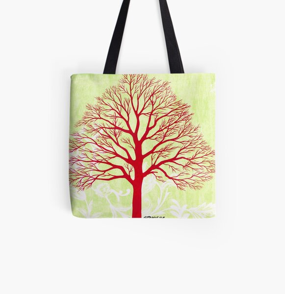 THE OLD RED TREE All Over Print Tote Bag