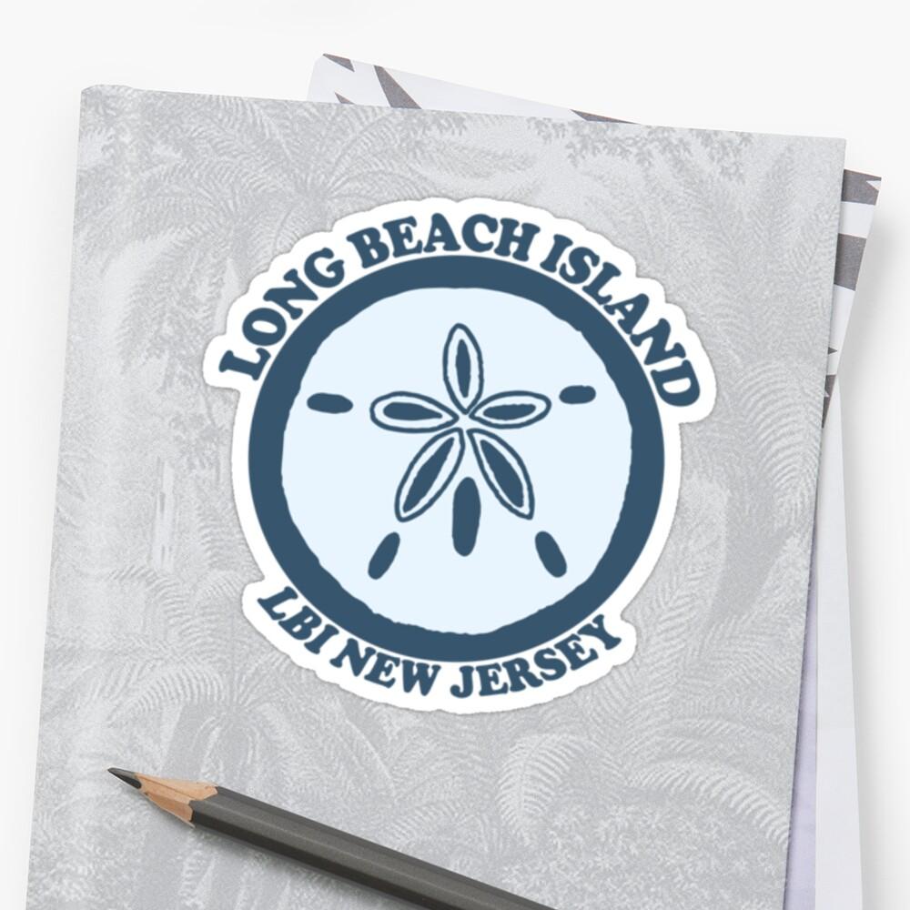 """Long Beach Island New Jersey: Long Beach Island NJ."""" Stickers By America Roadside"""