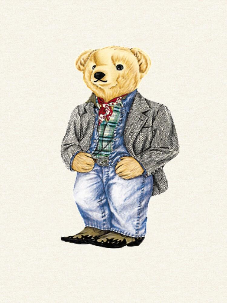 Cowboy Denim Polo Bear by easyrider3