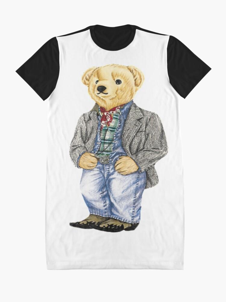 Alternate view of Cowboy Denim Polo Bear Graphic T-Shirt Dress