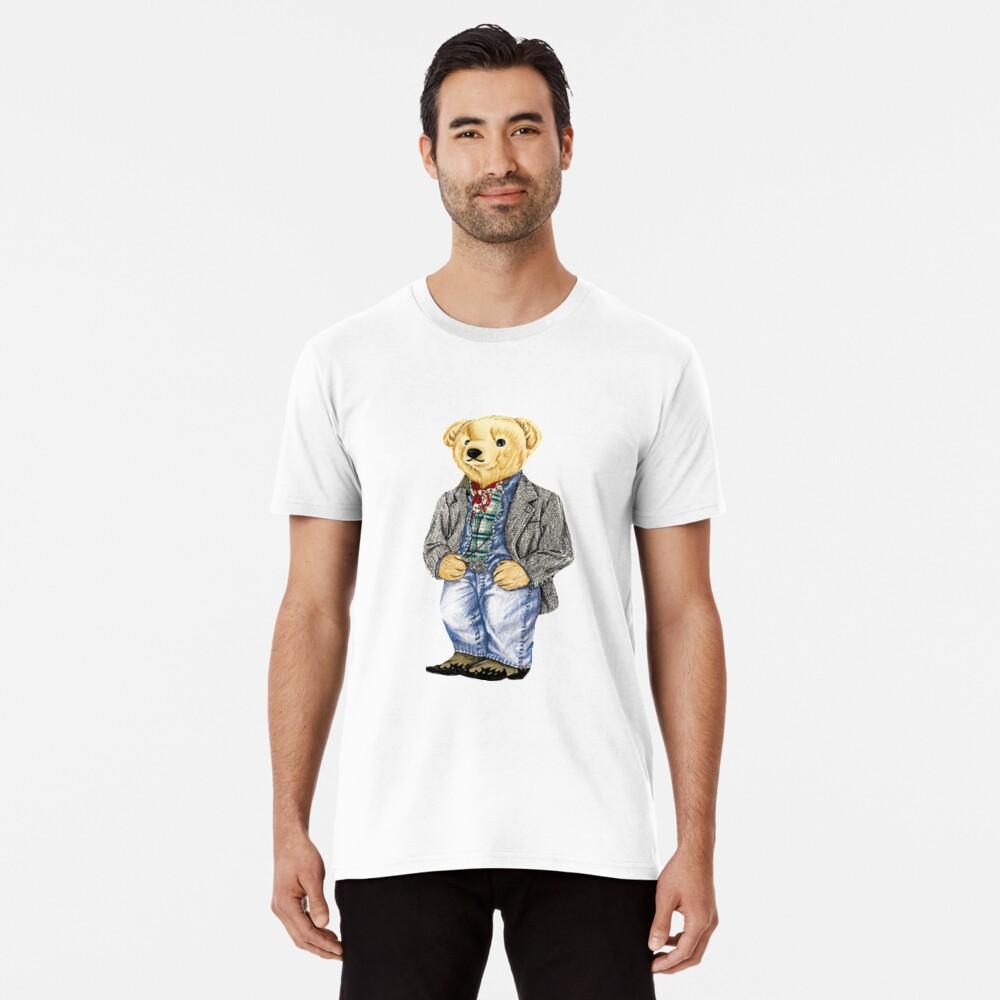 Cowboy Denim Polo Bear Premium T-Shirt