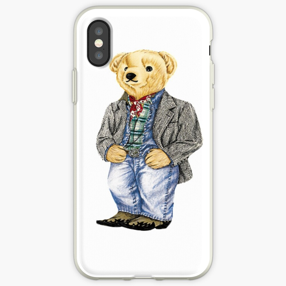 Cowboy Denim Polo Bear iPhone Case & Cover