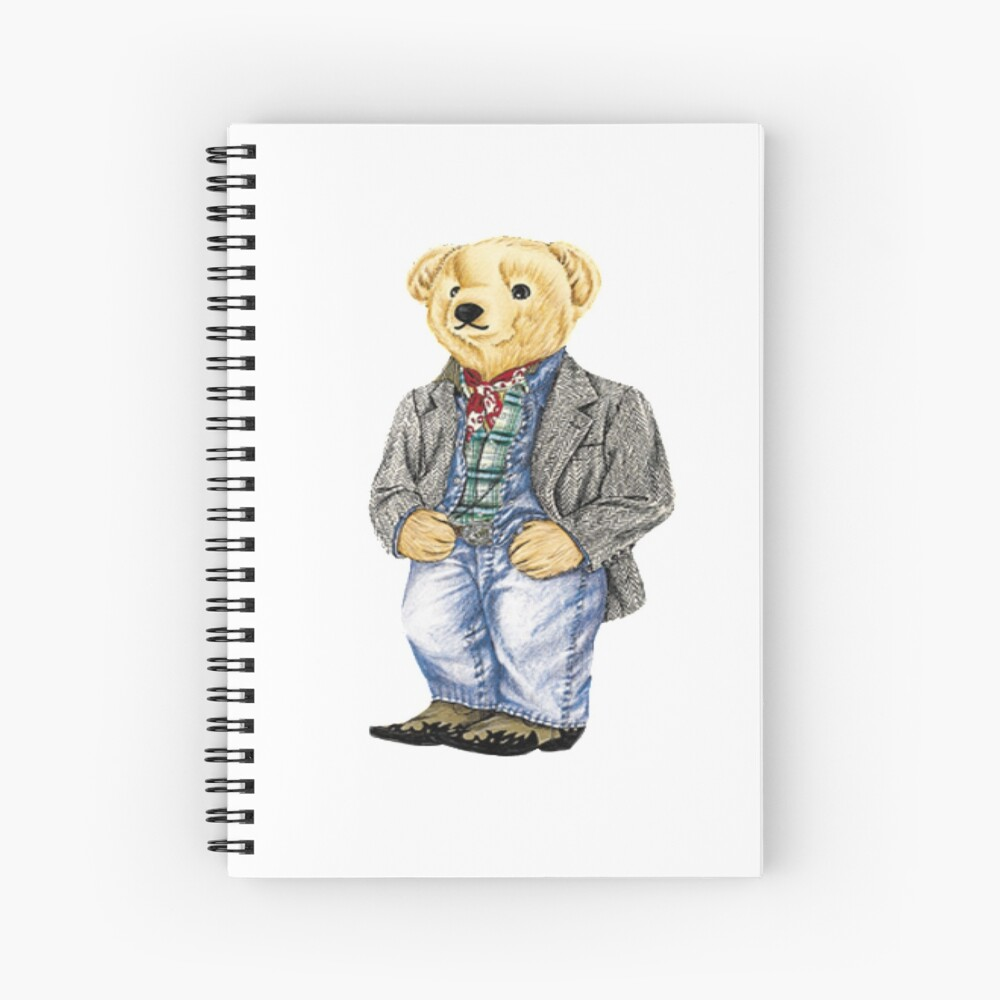 Cowboy Denim Polo Bear Spiral Notebook