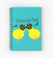 Elwood and Jake tee design Spiral Notebook